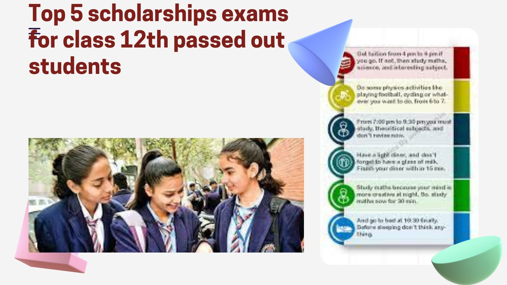 Top 5 scholarships exams for class 12th passed out students
